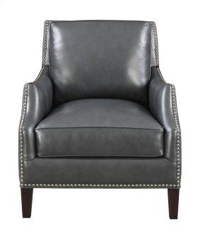 Emerald Home Luigi Chair-charcoal Leather U1211-02-03