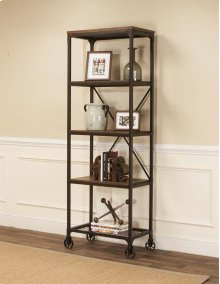 Craft Rustic Elm Slim Bookcase