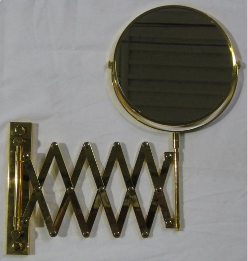 While supplies last! Please choose carefully, as all sales on these items are final. Please read Outlet Terms & Conditions and Privacy Policy . Gold Plated Two-Sided Swivel Mirror with Arm