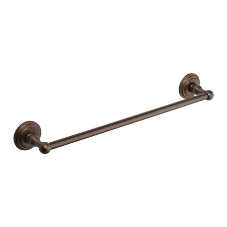 """Oil Rubbed Bronze - Hand Relieved 12"""" Towel Bar"""