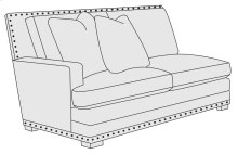 Cantor Left Arm Loveseat in Molasses (780)