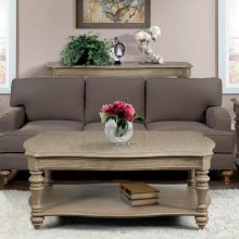 Corinne - Coffee Table - Sun-drenched Acacia Finish