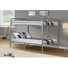 BUNK BED - FULL / FULL SIZE / SILVER METAL Product Image