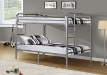 BUNK BED - FULL / FULL SIZE / SILVER METAL