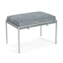 Metal Silver Upholstered Bench