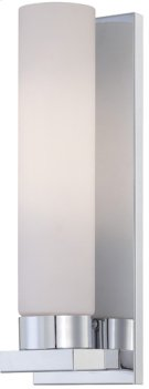 Wall Sconce, Chrome/frost Glass, Fluor. Bulb Pl/gu24 26w Product Image
