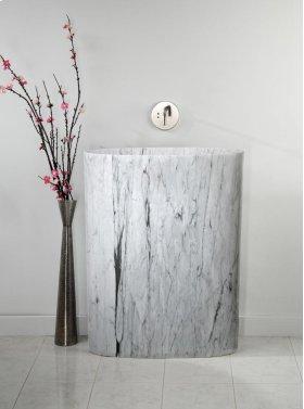 Infinity Pedestal Sink Carrara Marble