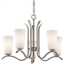 Armida Collection Armida 5 Light Chandelier - Brushed Nickel