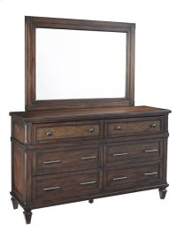 Drawer Dresser \u0026 Mirror - Sable Finish Product Image