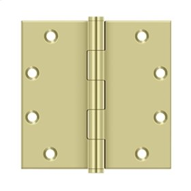 "5"" x 5"" Square Hinges - Unlacquered Brass"