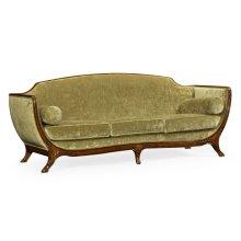 Empire Style Sofa (Mahogany/Velvet Lime)