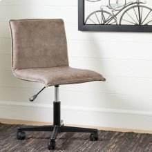 Mid-back office chair with black legs - Antique Light Brown