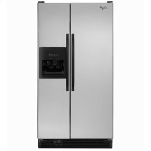 Whirlpool22 cu. ft. Side-by-Side Refrigerator with Full-Width Adjustable Slide-Out SpillGuard™ Glass Shelves