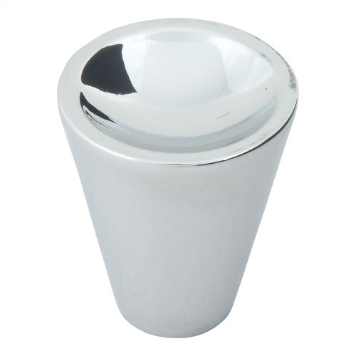 Dap Cone Knob 1 Inch - Polished Chrome