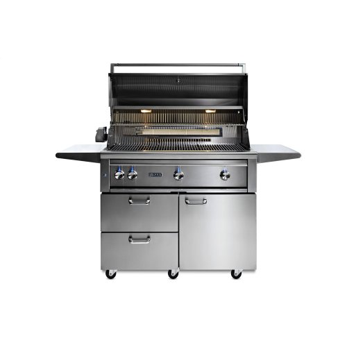 "42"" Lynx Professional Freestanding Grill with 1 Trident and 2 Ceramic Burners and Rotisserie, LP"