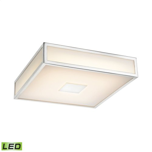 Hampstead 1-Light Flush Mount in Chrome with Opal White Acrylic Diffuser - Integrated LED