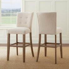 "Debby Bar Chair - Beige 19""x25""x45"" [1/2"" Memory Foam]"
