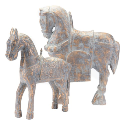 Solar Horse Lg Antique Gold