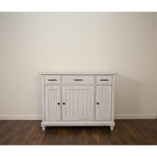 Aberdeen - Server - Weathered Worn White Finish