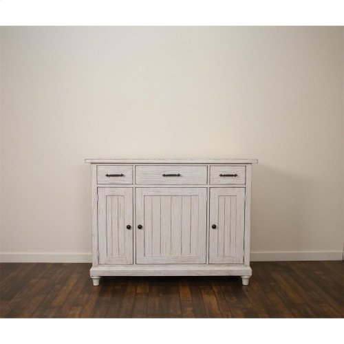 Aberdeen - Sideboard - Weathered Worn White Finish