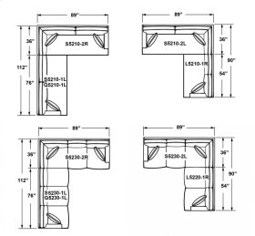 5210 CORNER SECTIONAL PIECES