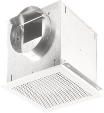 "Ventilator; 277 CFM Horizontal, 3.1 Sones; 277 CFM Vertical, 3.7 Sones. Metal grille and blower wheel. 8"" rd. duct connector. Suitable for kitchen installation. 120V"