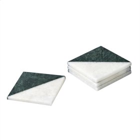 Green/white Marble Coasters