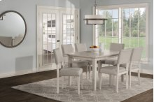 Elder Park 7-piece Rectangle Dining Set - White Sands With Oatmeal Fabric