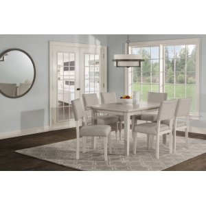 Hillsdale FurnitureElder Park 7-piece Rectangle Dining Set - White Sands With Oatmeal Fabric