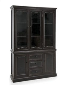 Bella Black Buffet & Hutch Top