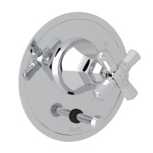 Polished Chrome Palladian Pressure Balance Trim With Diverter with Cross Handle