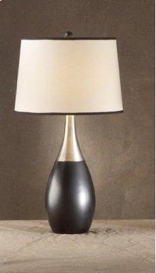 Bowling Pin Black/Silver Lamp