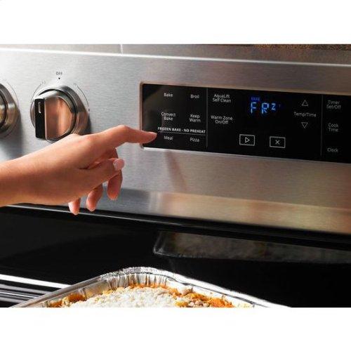 Whirlpool® 6.4 Cu. Ft. Freestanding Electric Range with Frozen Bake™ Technology - Fingerprint Resistant Stainless Steel