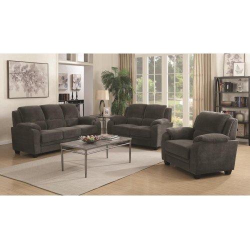 Northend Charcoal Three-piece Living Room Set
