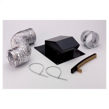 """Roof Vent Kit, 8' of 4"""" flexible aluminum duct. Model 636 Roof Cap, 4"""" to 3"""" reducer, 4"""" dia. connector, (2) 4"""" dia. clamps"""