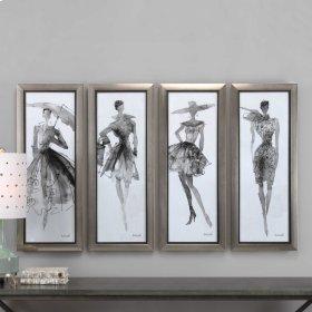 Fashion Sketchbook Framed Prints, S/