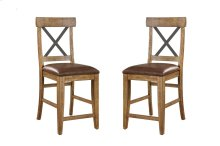 "Emerald Home Chandler 24"" Bar Stool Dark Walnut Finish D100-24"