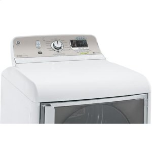 GE® 7.8 cu. ft. capacity electric dryer with stainless steel drum and steam