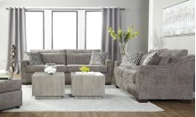 18100 Churchill Gunmetal Sofa and Loveseat