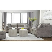 18100 Churchill Gunmetal Sofa and Loveseat