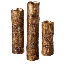 Antique Gold Branch Vase set/3.