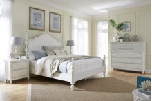 Aspen Retreat 4 Pc. Queen Bedroom - Headboard, Footboard & Rails, Dresser and Mirror