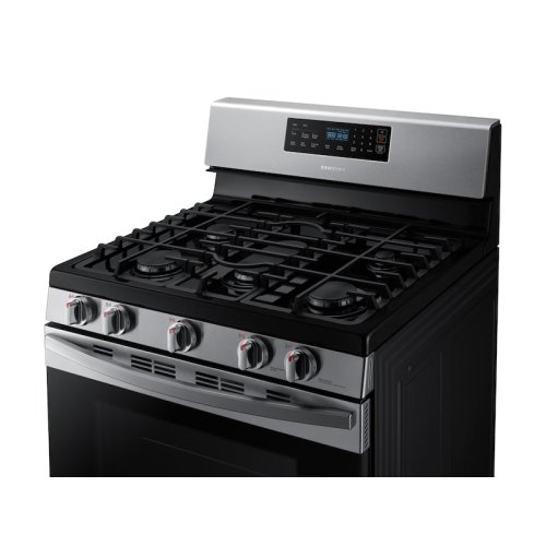 5.8 cu. ft. Freestanding Gas Range in Stainless Steel