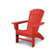 Vintage Sunset Red Nautical Curveback Adirondack Chair in Vintage Finish