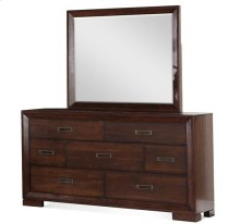 Riata Mirror Warm Walnut finish