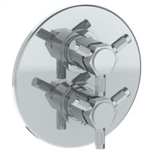 """Wall Mounted Thermostatic Shower Trim With Built-in Control, 7 1/2"""""""