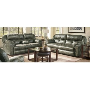 Dual Rec Power Console Loveseat w/ Headrest