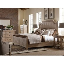 Complete Upholstered Low Post Bed