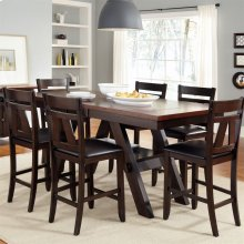 7 Piece Gathering Table Set
