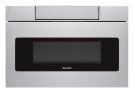24 in. 1.2 cu. ft. 1000W Sharp Stainless Steel Microwave Drawer Oven (SMD2470AS) Product Image